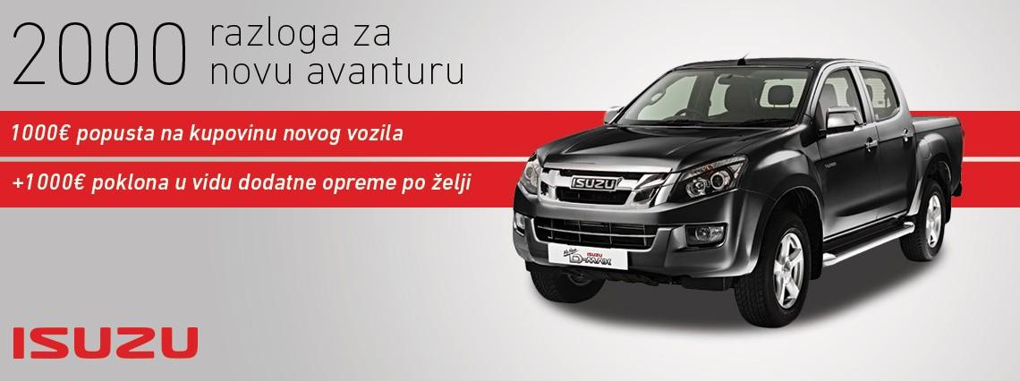 """Akcija """"Isuzu 2 u 1"""" – 2000 razloga za novu avanturu!"""