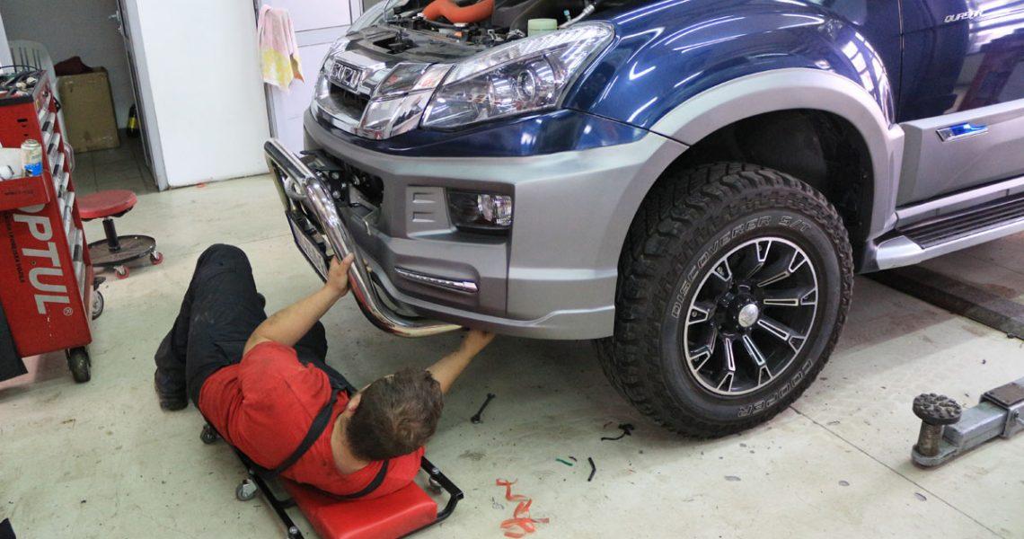 Ugradnja bodykit na ISUZU D-MAX Urban Monster
