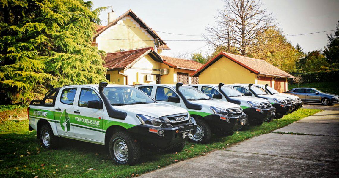 JP Vojvodinašume obnovilo svoj vozni park ISUZU D-Max pikapovima