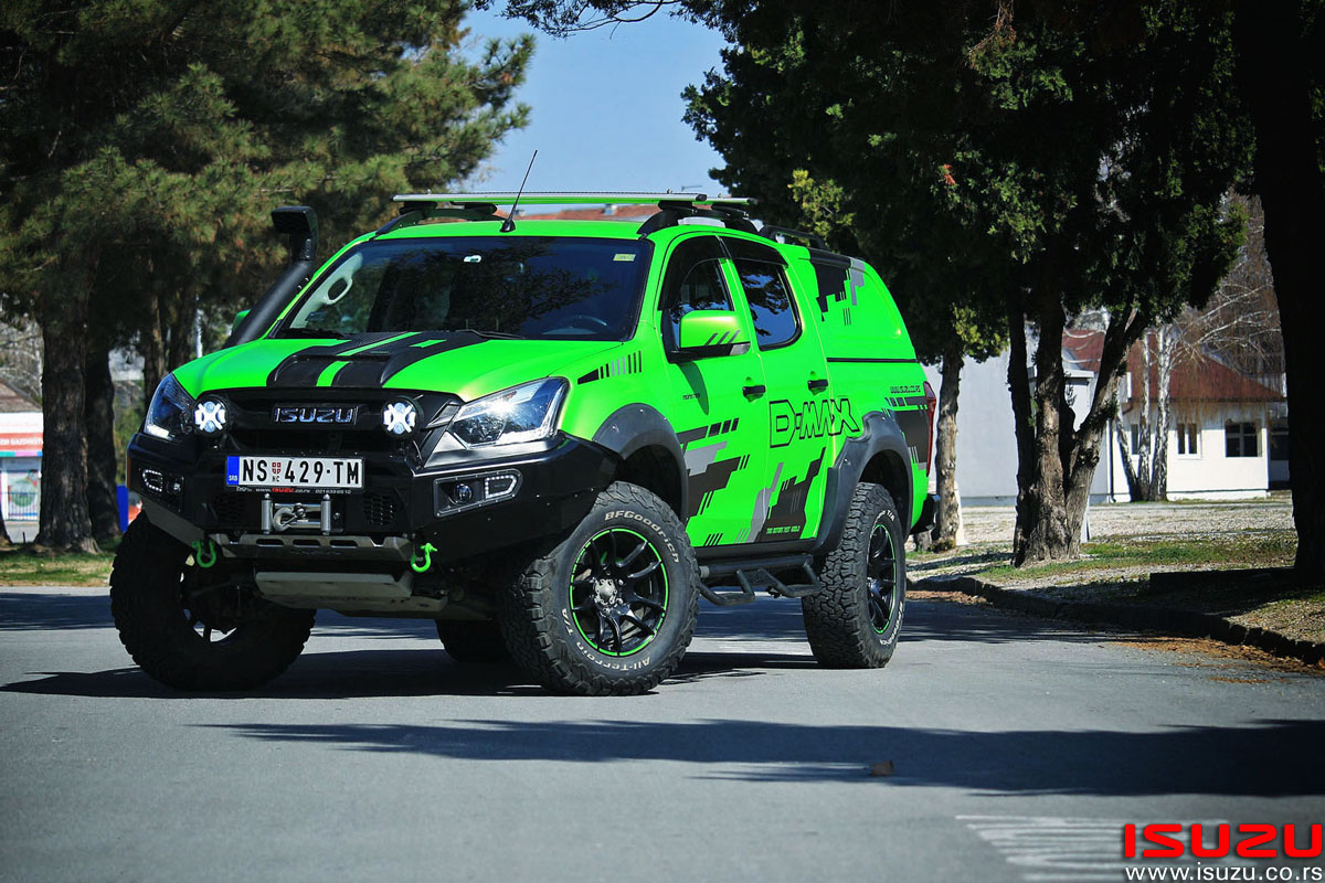 isuzu d-max green monster trio motors