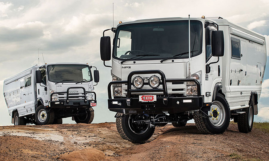 Isuzu NPS expedition vehicle