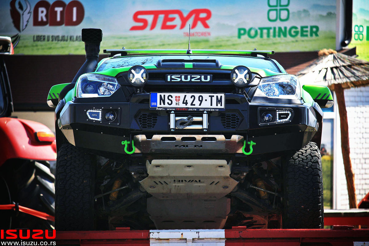 isuzu d-max green monster trio motors